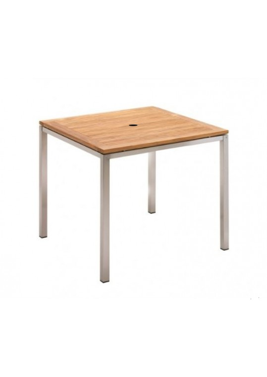 "Nexus 34"" x 34"" Table - Teak Top With Hole"