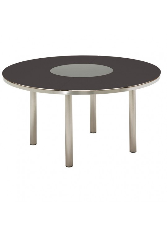 KORE 58.5 Round Table - Glass Top (Slate) w/Lazy Susan