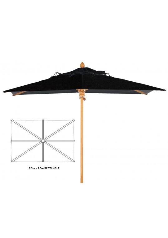 Monaco Rectangular Parasol 8' x 11.5' - Charcoal