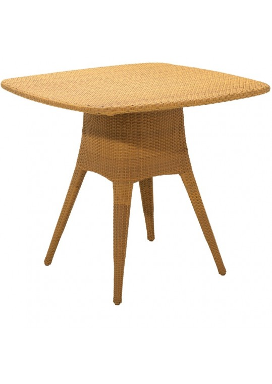 PLANTATION 48 Woven Square Bar Table - Natural (Includes Optional Glass Overlay)